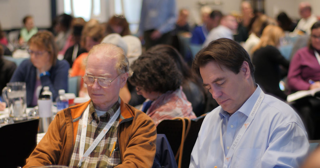 workshop attendees taking notes