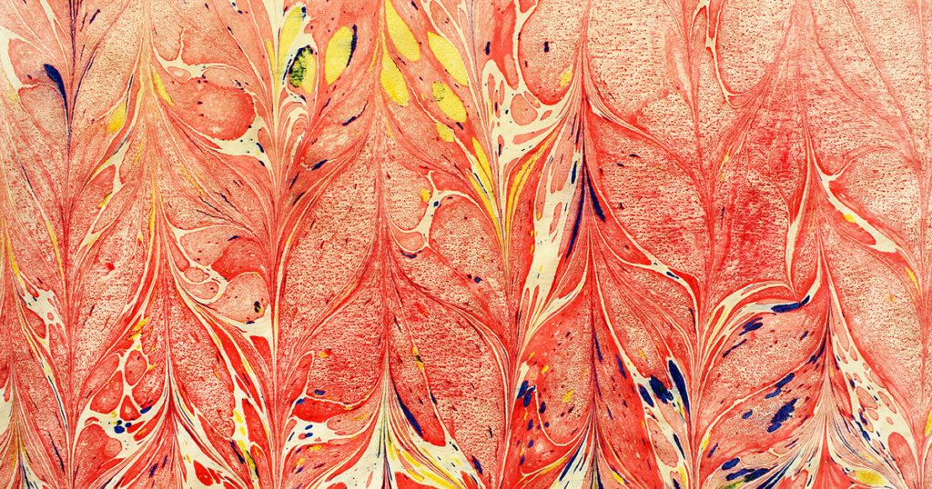 marbled ink paper
