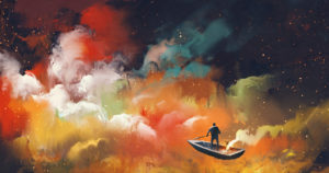 rowboat in space