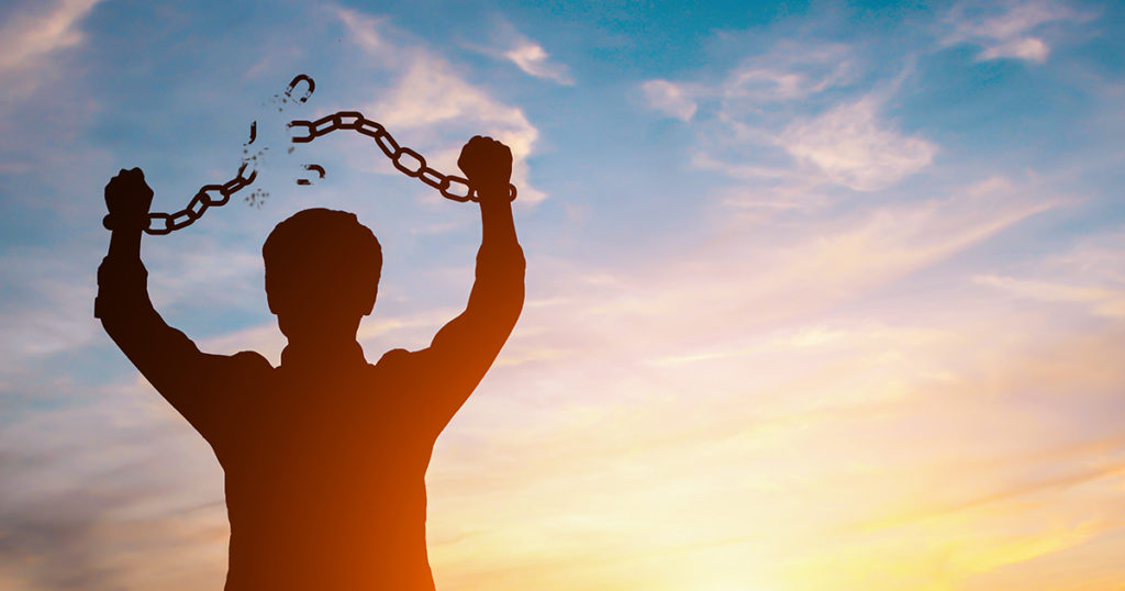 breaking free from chains