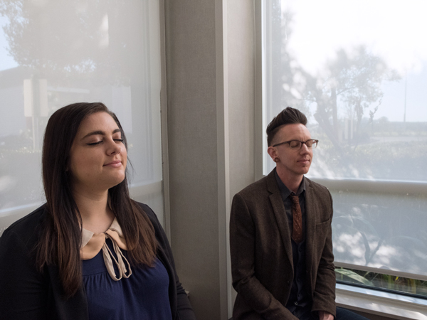 Image of ACT BootCamp attendees meditating